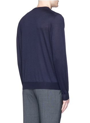 Back View - Click To Enlarge - ISAIA - Cashmere-silk sweater