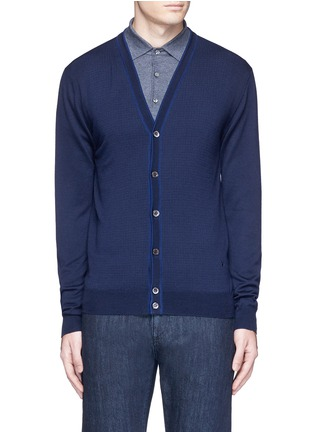 Main View - Click To Enlarge - ISAIA - Dot jacquard wool cardigan
