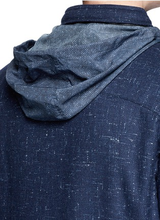 Detail View - Click To Enlarge - ISAIA - Padded Donegal tweed travel jacket and neck pillow set