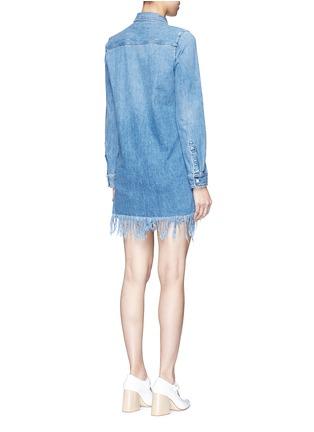 Back View - Click To Enlarge - 3x1 - 'WD' fringe hem denim shirt dress