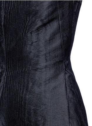 Detail View - Click To Enlarge - Lanvin - Woodgrain effect jacquard dress