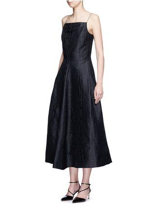 Front View - Click To Enlarge - Lanvin - Woodgrain effect jacquard dress