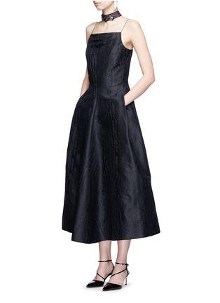Figure View - Click To Enlarge - Lanvin - Woodgrain effect jacquard dress