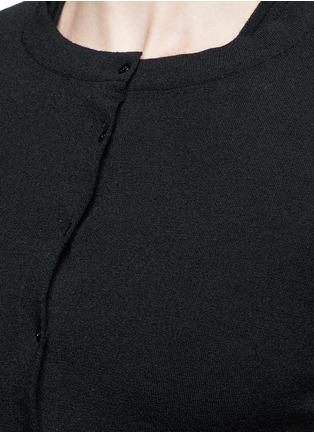 Detail View - Click To Enlarge - Alaïa - 'Supreme' cropped wool blend cardigan