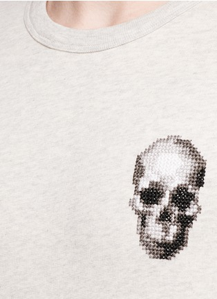 Detail View - Click To Enlarge - Alexander McQueen - Skull embroidery sweatshirt
