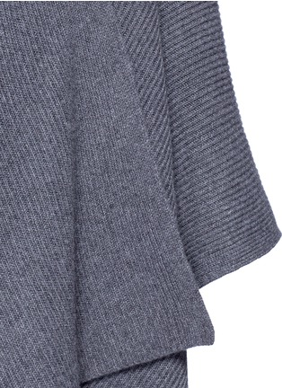Detail View - Click To Enlarge - THE ROW - 'Cappeto' handkerchief hem cashmere knit cape