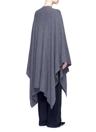 Back View - Click To Enlarge - THE ROW - 'Cappeto' handkerchief hem cashmere knit cape