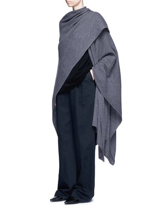 Figure View - Click To Enlarge - THE ROW - 'Cappeto' handkerchief hem cashmere knit cape