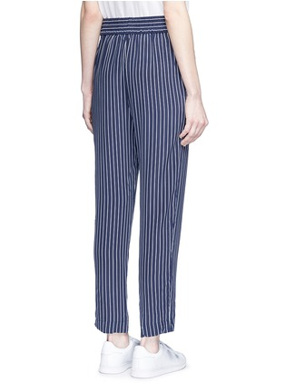 Back View - Click To Enlarge - Equipment - 'Handley' stripe silk drawstring track pants