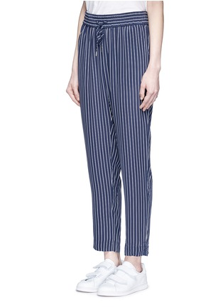 Front View - Click To Enlarge - Equipment - 'Handley' stripe silk drawstring track pants