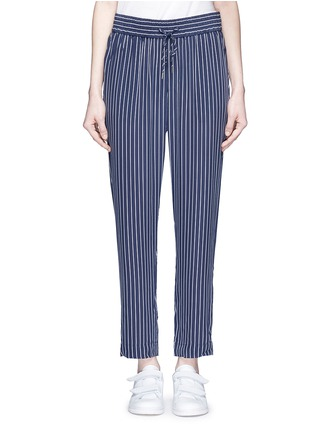 Main View - Click To Enlarge - Equipment - 'Handley' stripe silk drawstring track pants