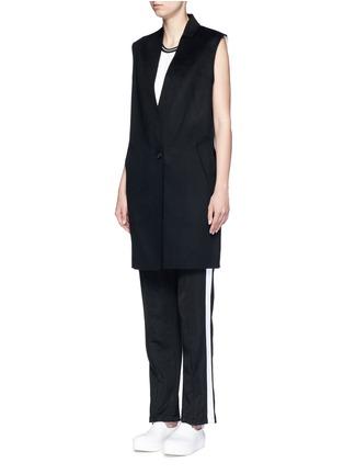 Front View - Click To Enlarge - rag & bone - 'Rockley' splittable wool cocoon vest
