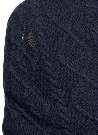 Detail View - Click To Enlarge - Stella McCartney - Cashmere-wool cable knit scarf