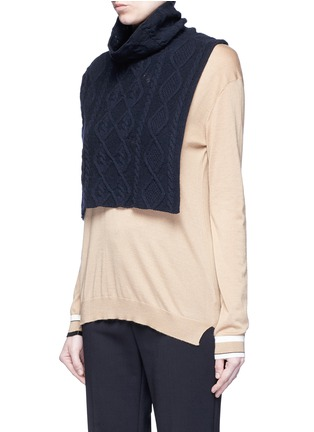 Front View - Click To Enlarge - Stella McCartney - Cashmere-wool cable knit scarf