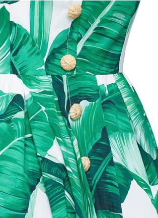 Detail View - Click To Enlarge - Dolce & Gabbana - Banana leaf print V-neck poplin dress
