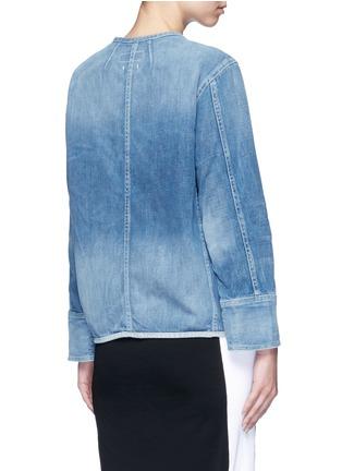 Back View - Click To Enlarge - rag & bone/JEAN - 'Santa Cruz' pocket denim jacket