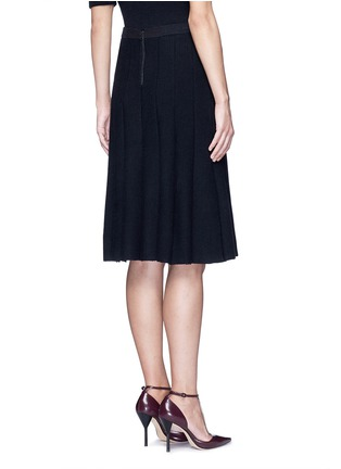 Back View - Click To Enlarge - ALICE + OLIVIA - 'Elissa' ribbed ottoman knit skirt