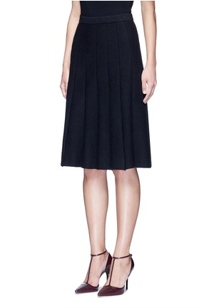 Front View - Click To Enlarge - alice + olivia - 'Elissa' ribbed ottoman knit skirt