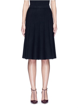 Main View - Click To Enlarge - ALICE + OLIVIA - 'Elissa' ribbed ottoman knit skirt