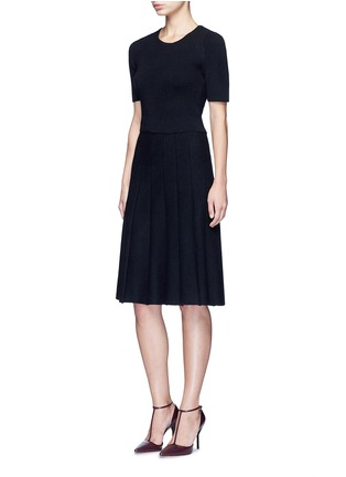 Figure View - Click To Enlarge - alice + olivia - 'Elissa' ribbed ottoman knit skirt