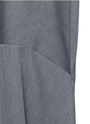Detail View - Click To Enlarge - Balenciaga - Knit effect cutout hem dress