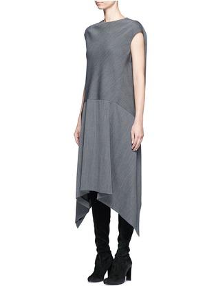 Front View - Click To Enlarge - Balenciaga - Knit effect cutout hem dress