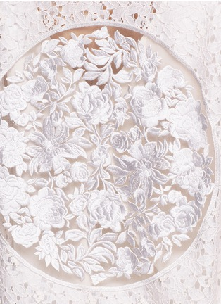 Detail View - Click To Enlarge - Stella McCartney - 'Simone' embroidered rebrode lace bomber jacket