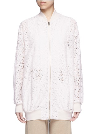 Main View - Click To Enlarge - Stella McCartney - 'Simone' embroidered rebrode lace bomber jacket