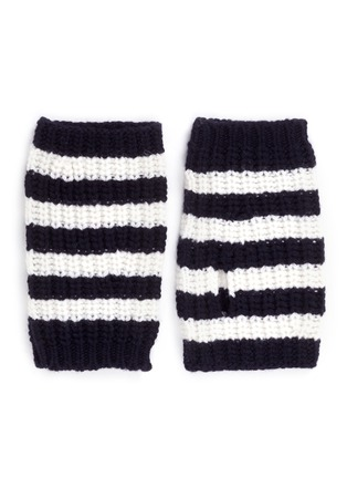 Main View - Click To Enlarge - Gucci - Stripe wool knit fingerless gloves
