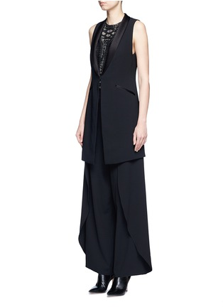 Front View - Click To Enlarge - alice + olivia - 'Mayson' shawl collar long waistcoat