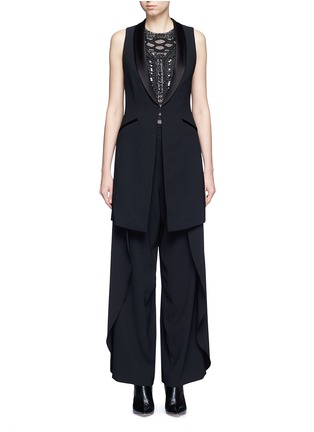 Main View - Click To Enlarge - ALICE + OLIVIA - 'Mayson' shawl collar long waistcoat