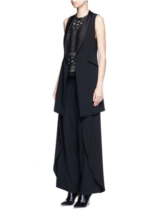Figure View - Click To Enlarge - alice + olivia - 'Mayson' shawl collar long waistcoat
