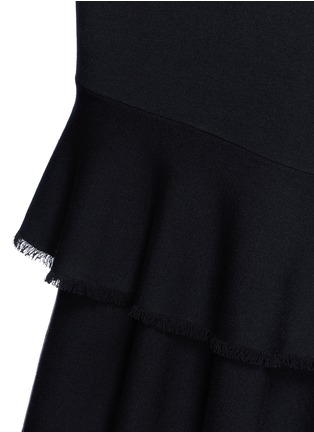 Detail View - Click To Enlarge - Theory - 'Nilimary' tiered fringe hem fishtail dress