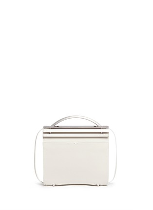 Back View - Click To Enlarge - Eddie Borgo - 'Colt' aluminium bar flap leather crossbody
