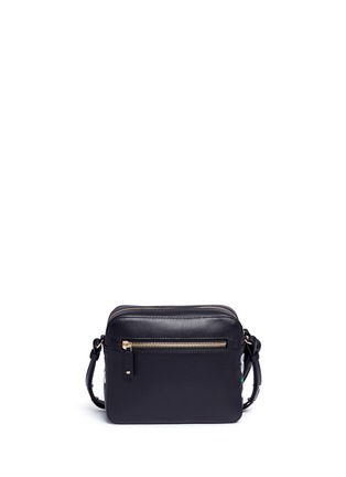 Back View - Click To Enlarge - Anya Hindmarch - 'All Over Stickers' embossed leather crossbody bag