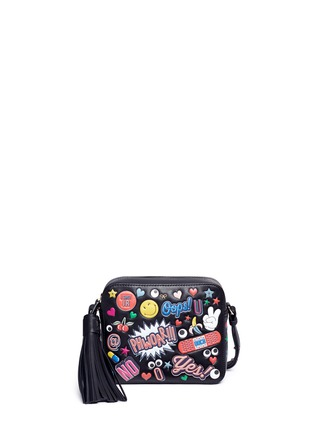 Main View - Click To Enlarge - Anya Hindmarch - 'All Over Stickers' embossed leather crossbody bag