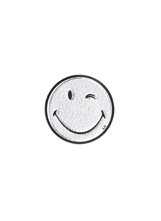 Main View - Click To Enlarge - Anya Hindmarch - x Chaos Fashion 'Wink' metallic leather smiley sticker