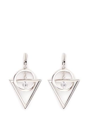 Main View - Click To Enlarge - Eddie Borgo - 'Dahlia Nexus' rock crystal bead chain drop earrings