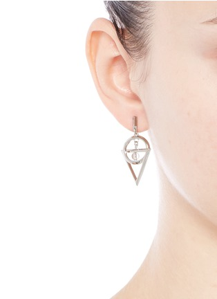 Figure View - Click To Enlarge - Eddie Borgo - 'Dahlia Nexus' rock crystal bead chain drop earrings