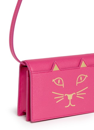 Detail View - Click To Enlarge - Charlotte Olympia - 'Feline' leather crossbody purse