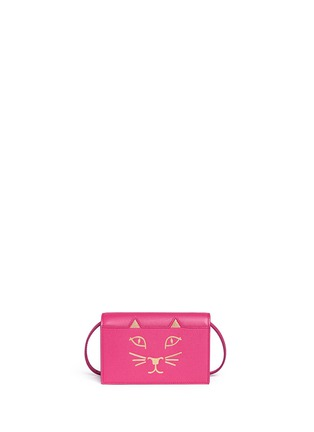 Main View - Click To Enlarge - CHARLOTTE OLYMPIA - 'Feline' leather crossbody purse