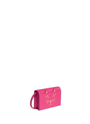 Figure View - Click To Enlarge - Charlotte Olympia - 'Feline' leather crossbody purse