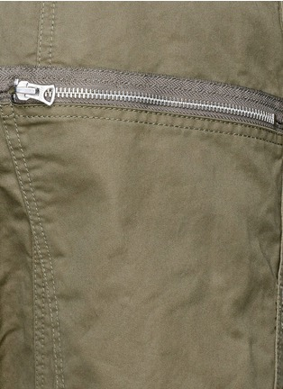 Detail View - Click To Enlarge - NLST - Contoured seam cotton flight shorts