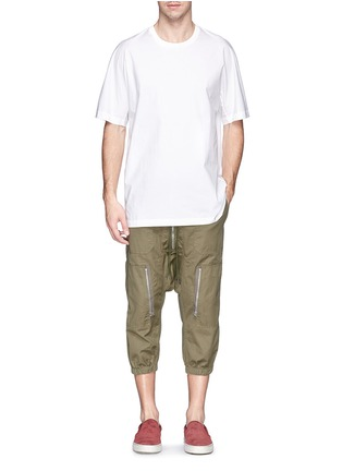 Figure View - Click To Enlarge - NLST - Contoured seam cotton flight shorts