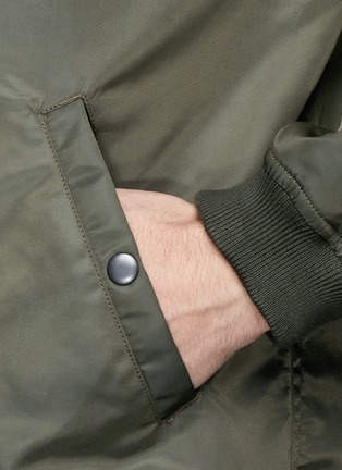 Detail View - Click To Enlarge - NLST - Nylon twill flight jacket