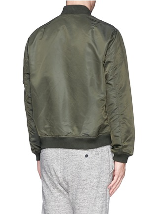 Back View - Click To Enlarge - NLST - Nylon twill flight jacket
