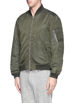 Front View - Click To Enlarge - NLST - Nylon twill flight jacket