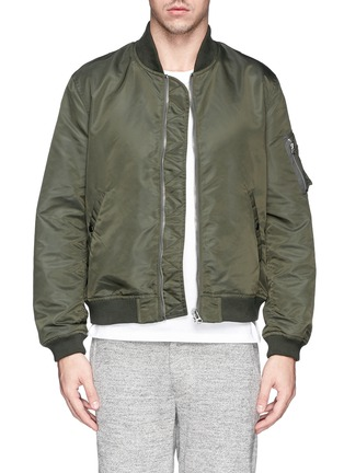 Main View - Click To Enlarge - NLST - Nylon twill flight jacket