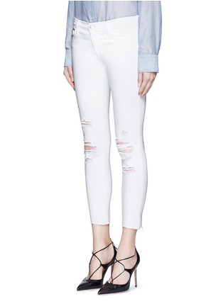 Front View - Click To Enlarge - J Brand - 'Cropped' ripped jeans