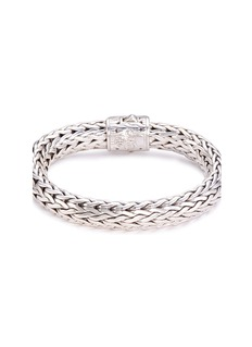 John Hardy Diamond silver woven chain bracelet